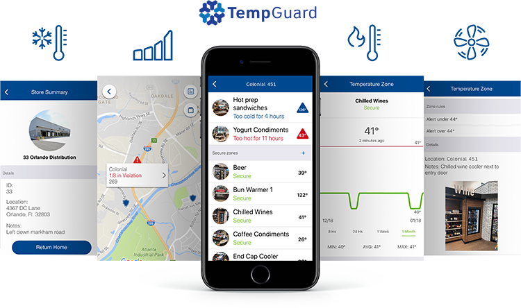 TempGuard wireless temp monitoring app