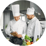 Chefs discussing